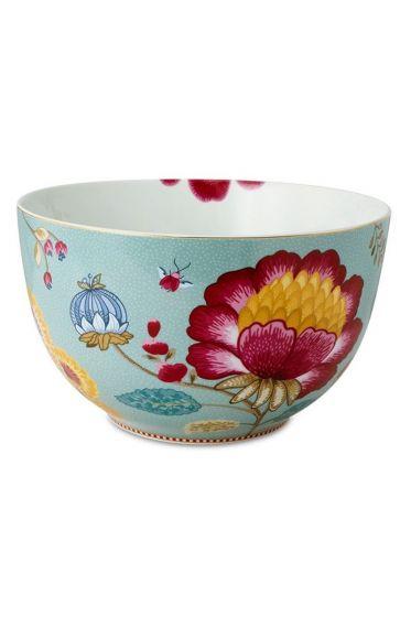 Big Floral Fantasy bowl blue