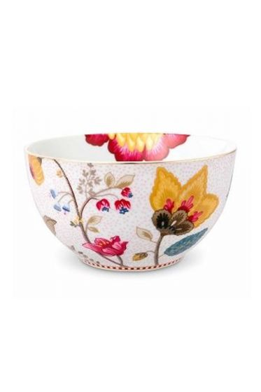 Floral Fantasy bowl white