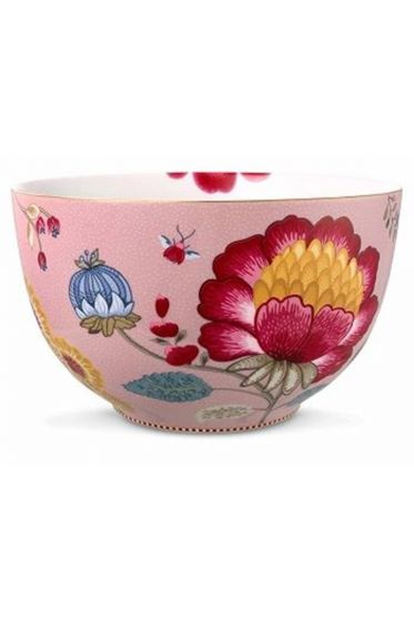 Big Floral Fantasy bowl pink