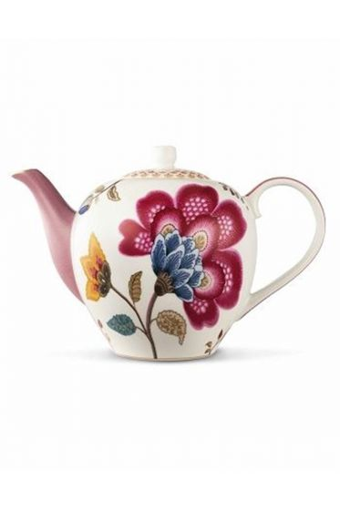 Floral Fantasy theepot roze