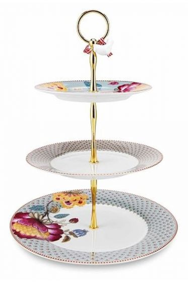 Floral Fantasy Bloomingtales cake stand khaki/blue