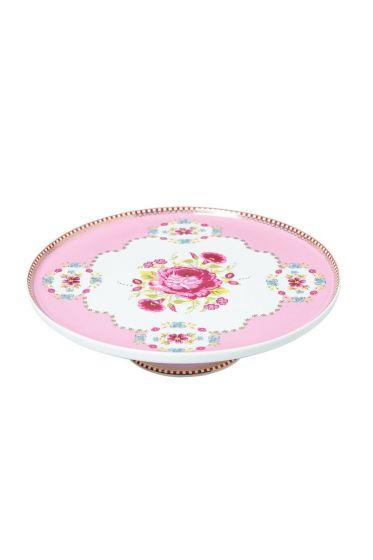 Mini Floral cake platter pink