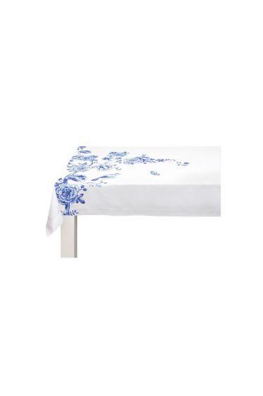 Royal table cloth blue
