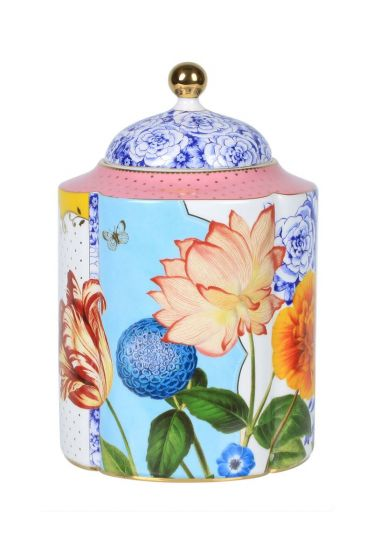 L Royal storage canister multicoloured