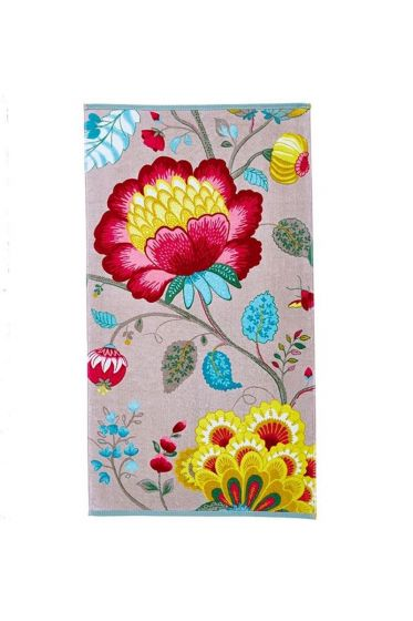 Floral Fantasy Handdoek Khaki