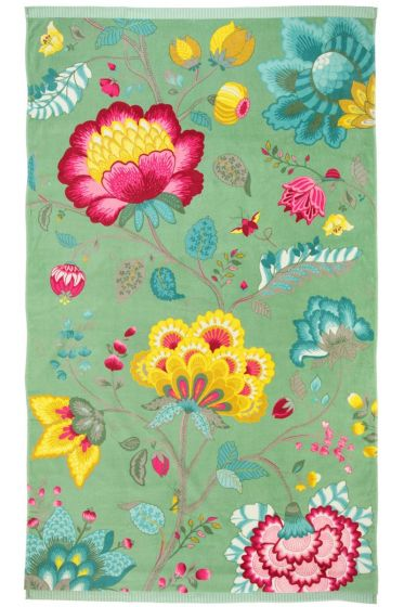 Floral Fantasy Beach Towel Green