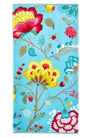Floral Fantasy XL Handdoek Lichtblauw