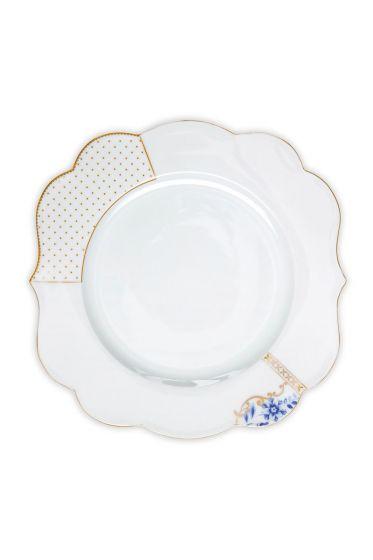 Royal White dinner plate