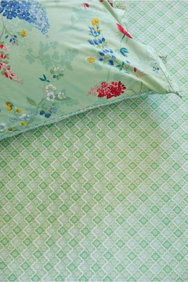 Fitted Sheet Petit Tile Green