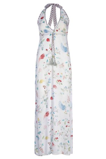 Maxi dress Hummingbirds Off White