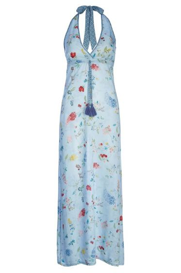 Maxi dress Hummingbirds Blue