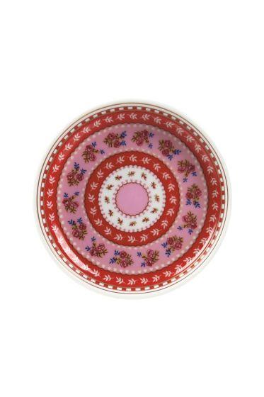 Floral Teeteller rosa