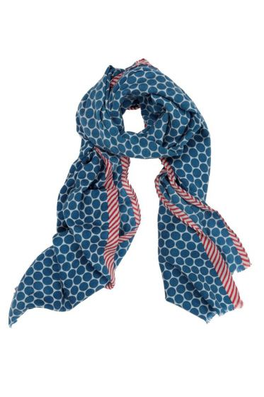 Sjaal Big Dot Blauw