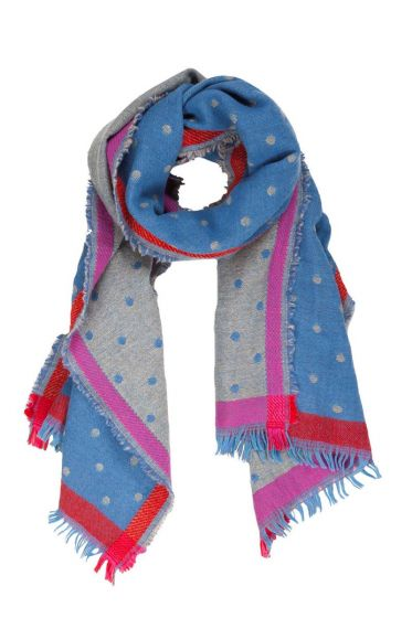 Scarf Small Dot Blue