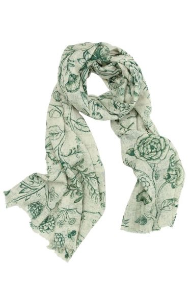Scarf Spring to Life two-tone Green