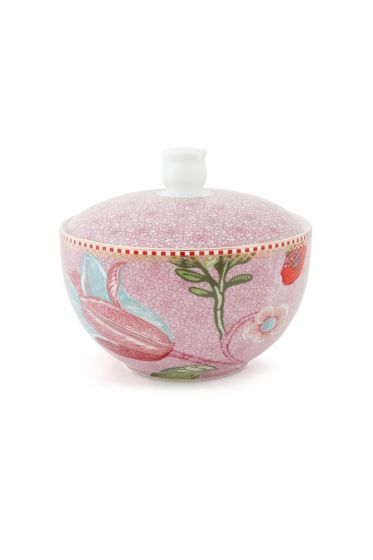 Cotton Ball Jar Spring to Life Pink