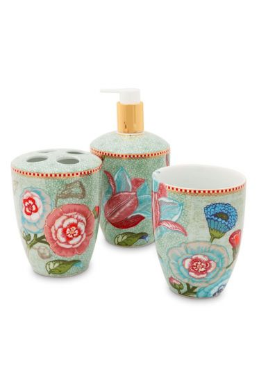 Bathroom Accessories Set Spring to Life Green