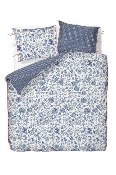 Duvet Cover two-sided Buttons Up Dark Blue