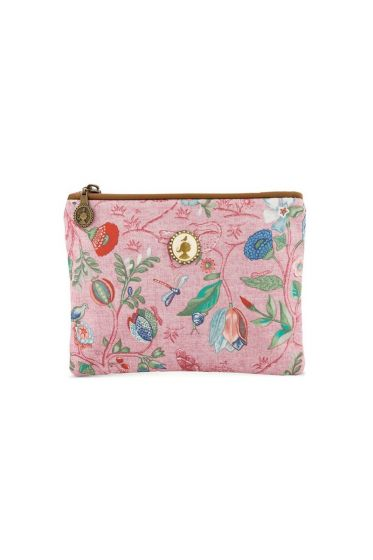 Flat toiletry bag Small Spring to Life Pink