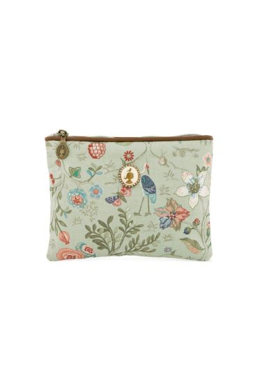 Flat toiletry bag Small Spring to Life Green