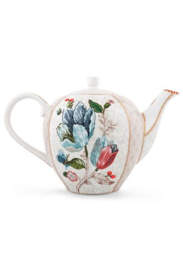 Spring to Life Teapot Off White