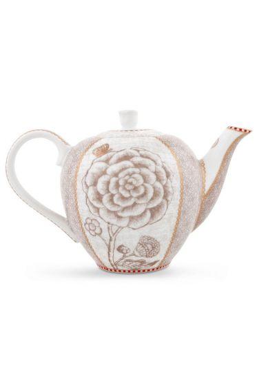 Spring to Life Teapot Small Off White