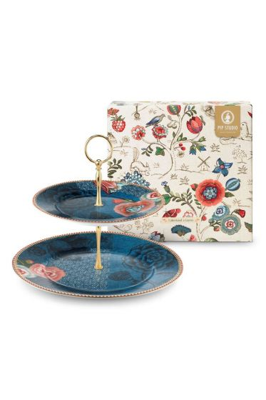Spring to Life Cake Stand Blue