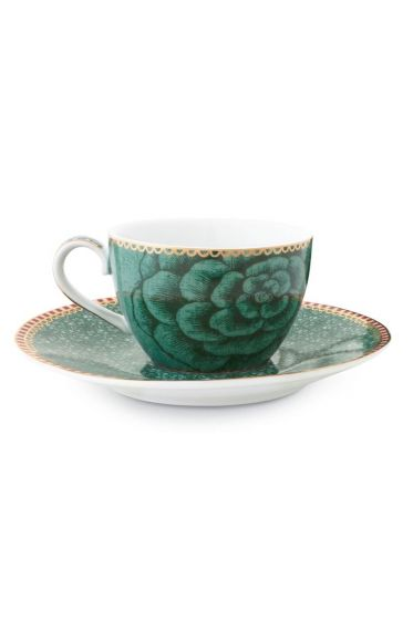 Spring to Life Espresso Cup & Saucer Green