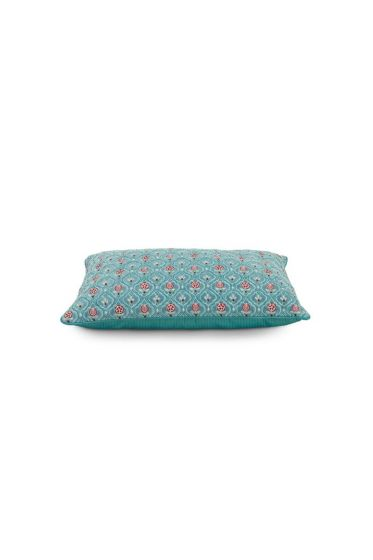 Cushion Indian Flower Green