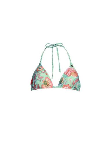 Bikini top Triangle Shellebration light green