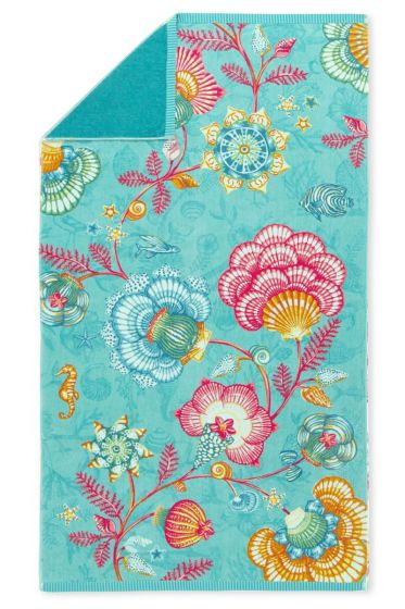 Beach towel Shellebrations aquamarine