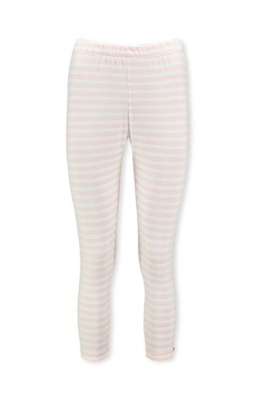 Dreiviertellange Leggings Mini Stripe Hellrosa