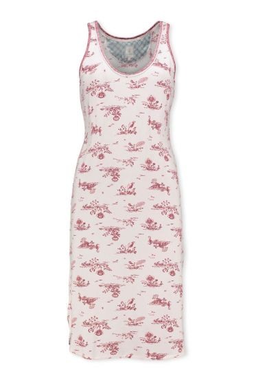 Sleeveless Night Dress Flow de Fleur Pink