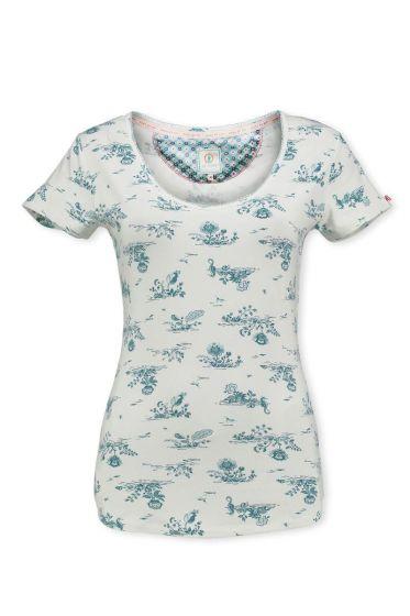 T-Shirt Flow de Fleur Aqua