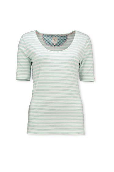T-Shirt Mini Stripe Hellblau