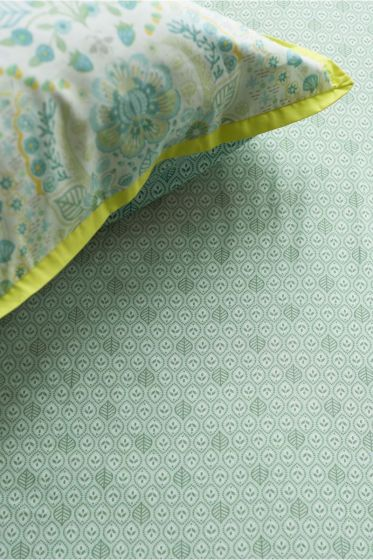 Fitted sheet Leaves Green