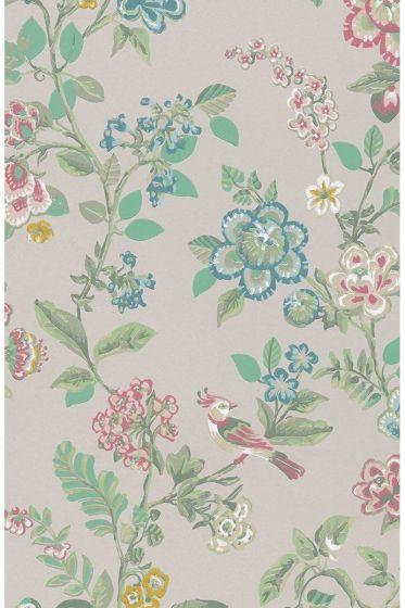 Botanical Print wallpaper khaki