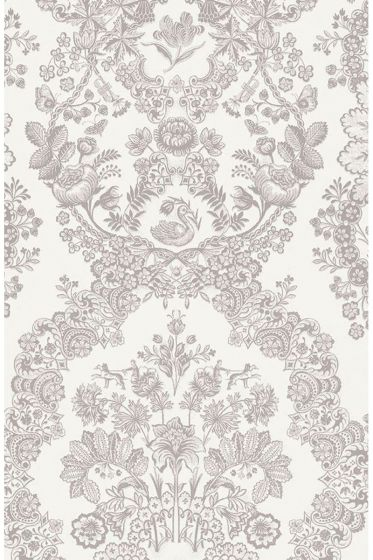 Lacy Dutch wallpaper khaki