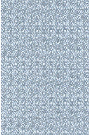 Lacy behang blauw