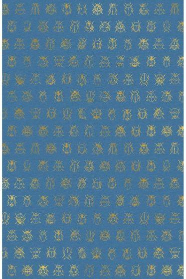 Lady Bug Tapete blau