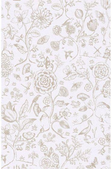 Spring to Life two tone wallpaper off white