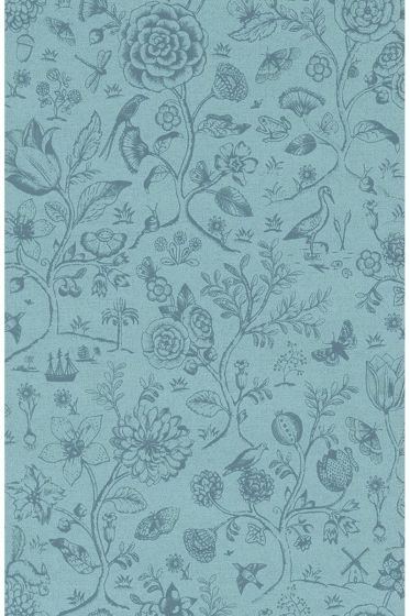 Spring to Life two tone wallpaper sea blue