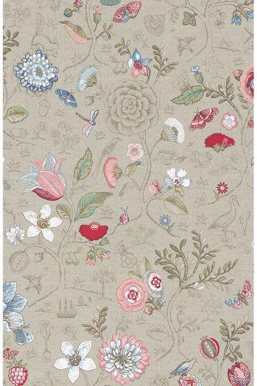 Spring to Life behang khaki