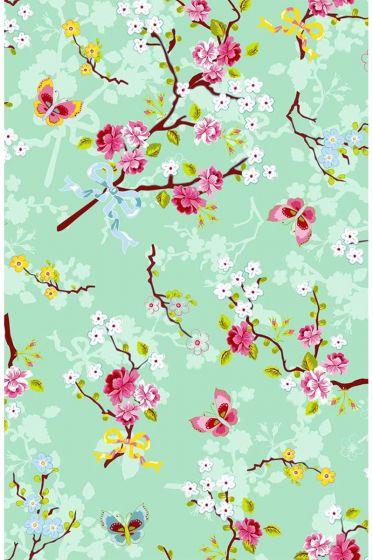 Chinese Rose wallpaper green