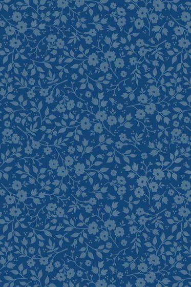 Lovely Branches Tapete dunkelblau