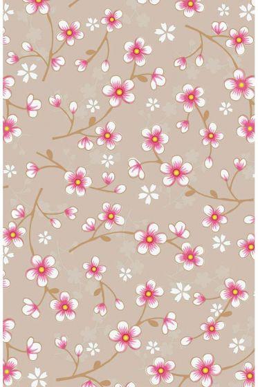 Cherry Blossom wallpaper khaki
