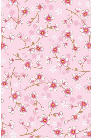 Cherry Blossom Tapete hellrosa