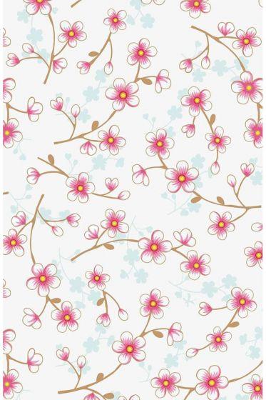 Cherry Blossom wallpaper white