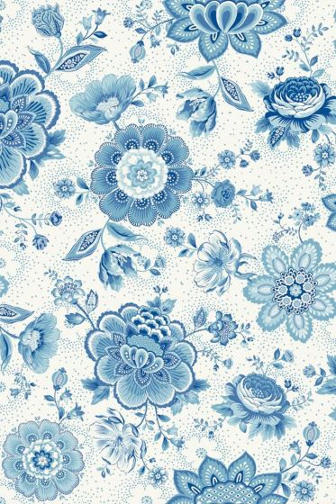 Folklore Chintz wallpaper light blue