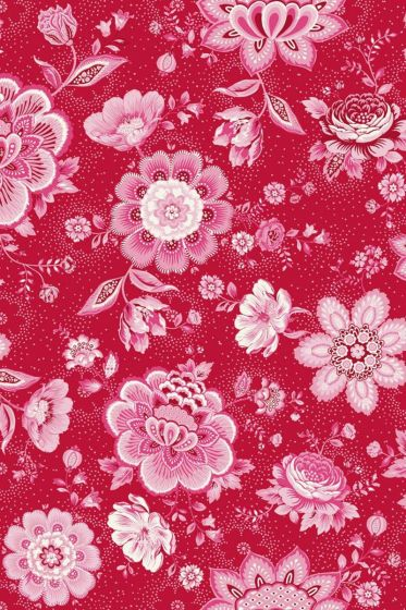 Folklore Chintz wallpaper red